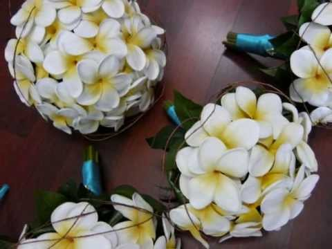 Frangipani Plumeria Wedding Flowers Youtube