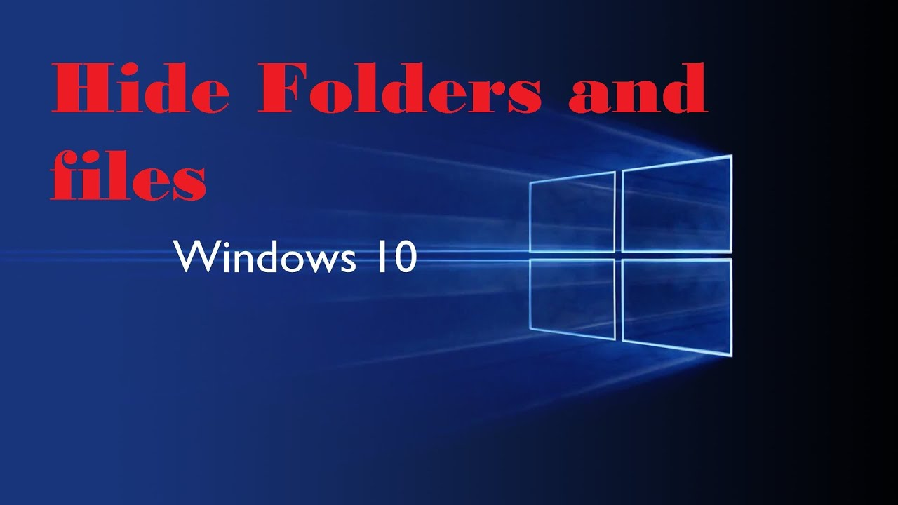 windows 10 how to hid files from search