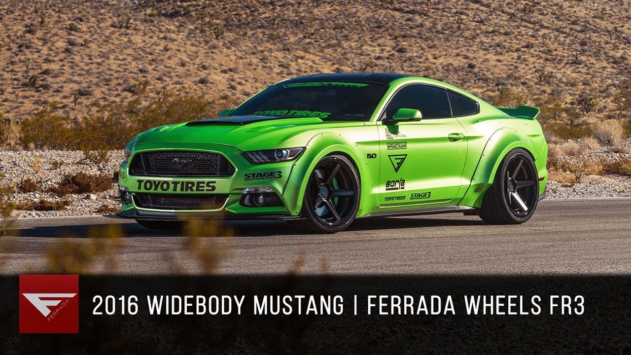 2016 Widebody Ford Mustang Ferrada Fr3 In Matte Black