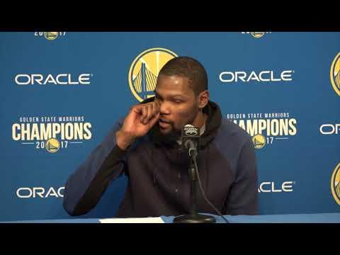 Kevin Durant Postgame Interview / GS Warriors vs Pelicans