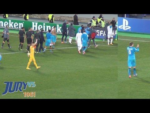 Игроки после матча Зенит-Монако
