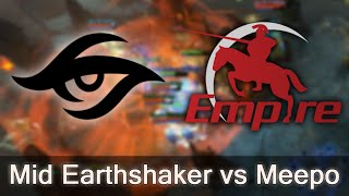 Earthshaker mid vs Meepo — Empire vs Secret
