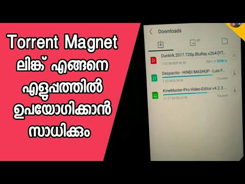 How To Use Torrent Magnet Link And Download Movies,File In Highspeed In Android