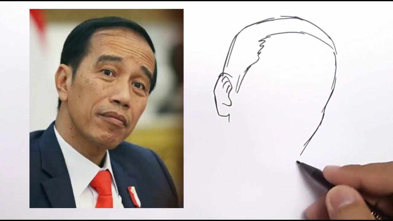 Wowgila Cara Menggambar Karikatur Jokowi Dengan Mudah Youtube