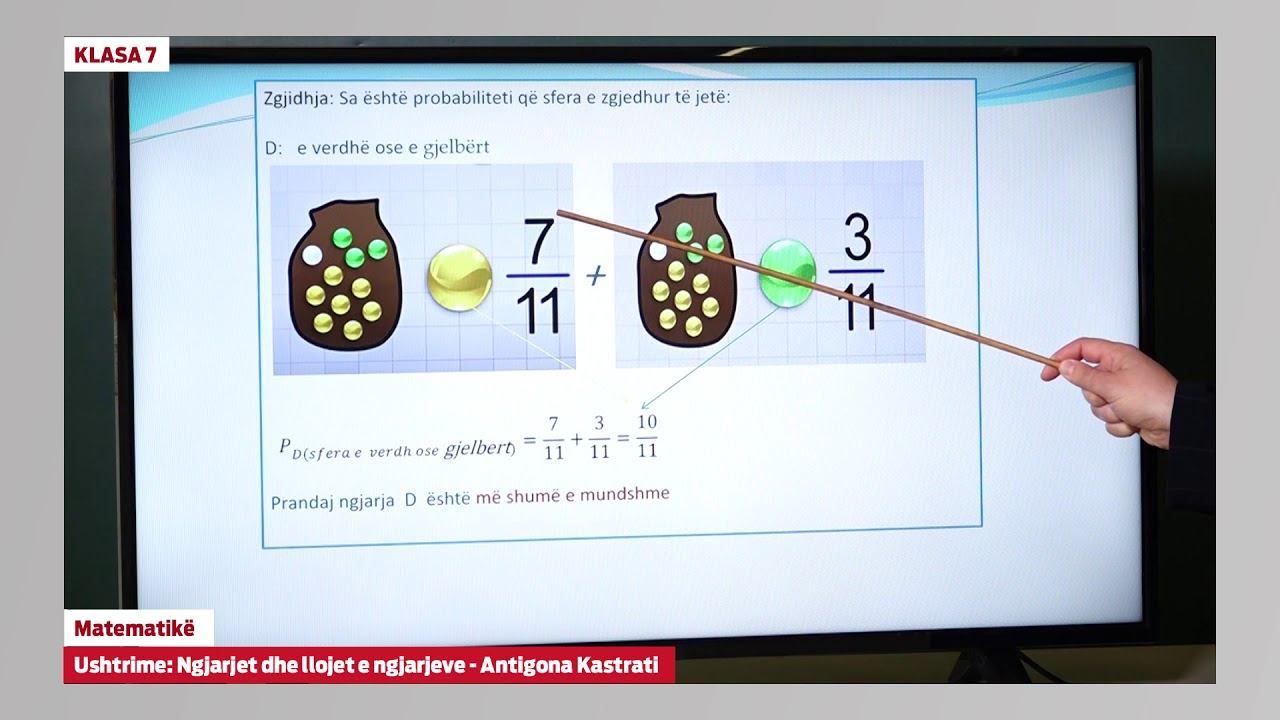 Download e Mesimi Klasa 7 - 7097 Matematikë - Ushtrime ngjarjet dhe llojet e ngjarjeve