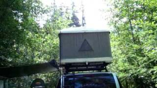 Camping Greenwater, WA. FS Road 7320 at Huckleberry Creek  August 2009