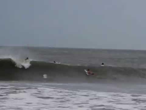 Folly Beach Surfing Hurricane Arthur Soloshot