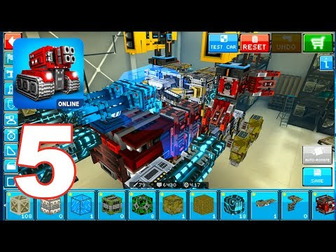 Blocky Cars Online - Gameplay Walkthrough Part 5 - Pixel War (Android Games)