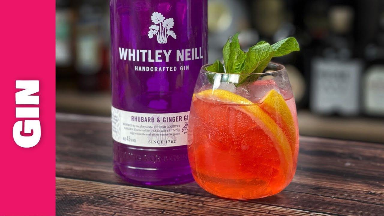 Easy Gin Cocktails Recipes - Rhubarb Gin & Grapefruit Spritz