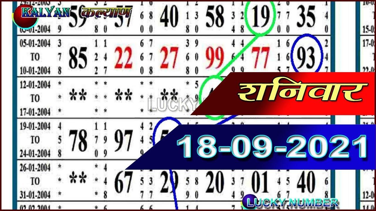 Kayan today 18 September 2021,kalyan matka today open 2021 || LUCKY NUMBER || kalyan result