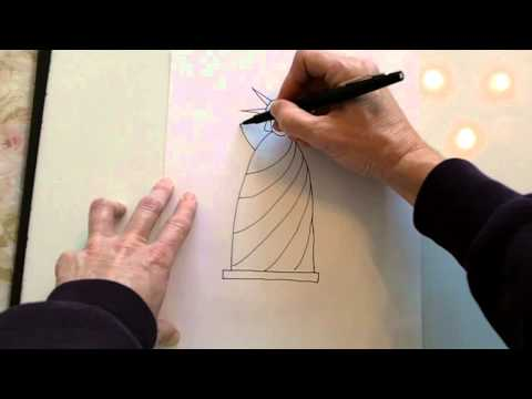how to draw a simple statue of liberty