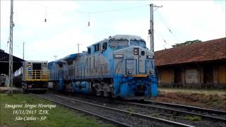 Caminhão Rodo Ferroviário chegando em São Carlos [FULL HD]
