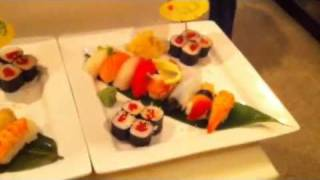 8 sushi deluxe at the dojo.