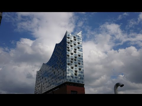 Walking in Hamburg HafenCity 4K 2018 Realtime tour