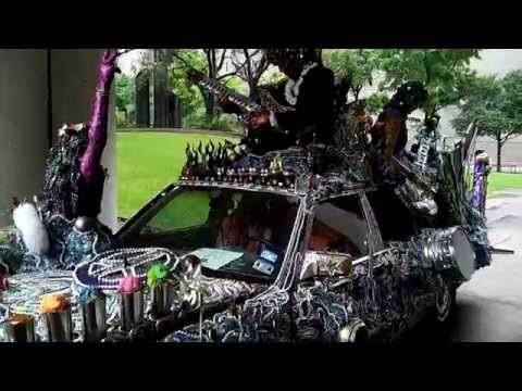 Art Car Ball - Houston 2015: a decorated car at display 720p HD