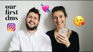 Reading our first Instagram DMs [how we met]