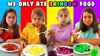 We only ate RAINBOW FOOD for 24 hours - LAST ONE TO EAT WINS!