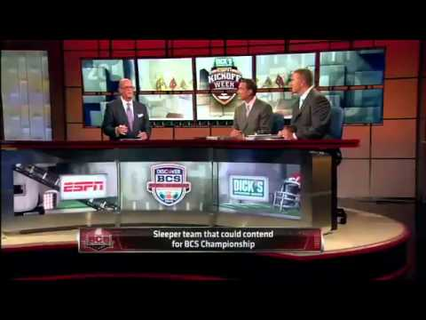 BCS Championship Prediction - SportsCenter (08-30-2012)