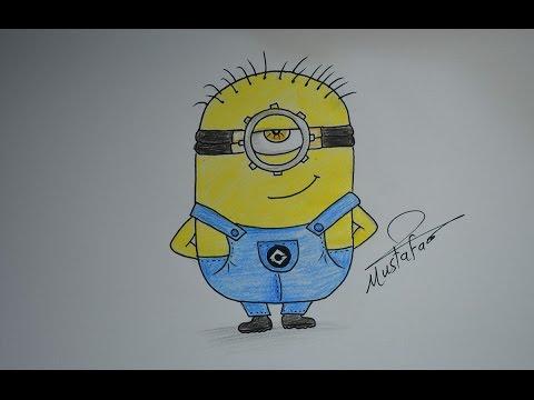 تعلم الرسم كيفية رسم مينيونز مع الخطوات للمبتدئين how to draw minons