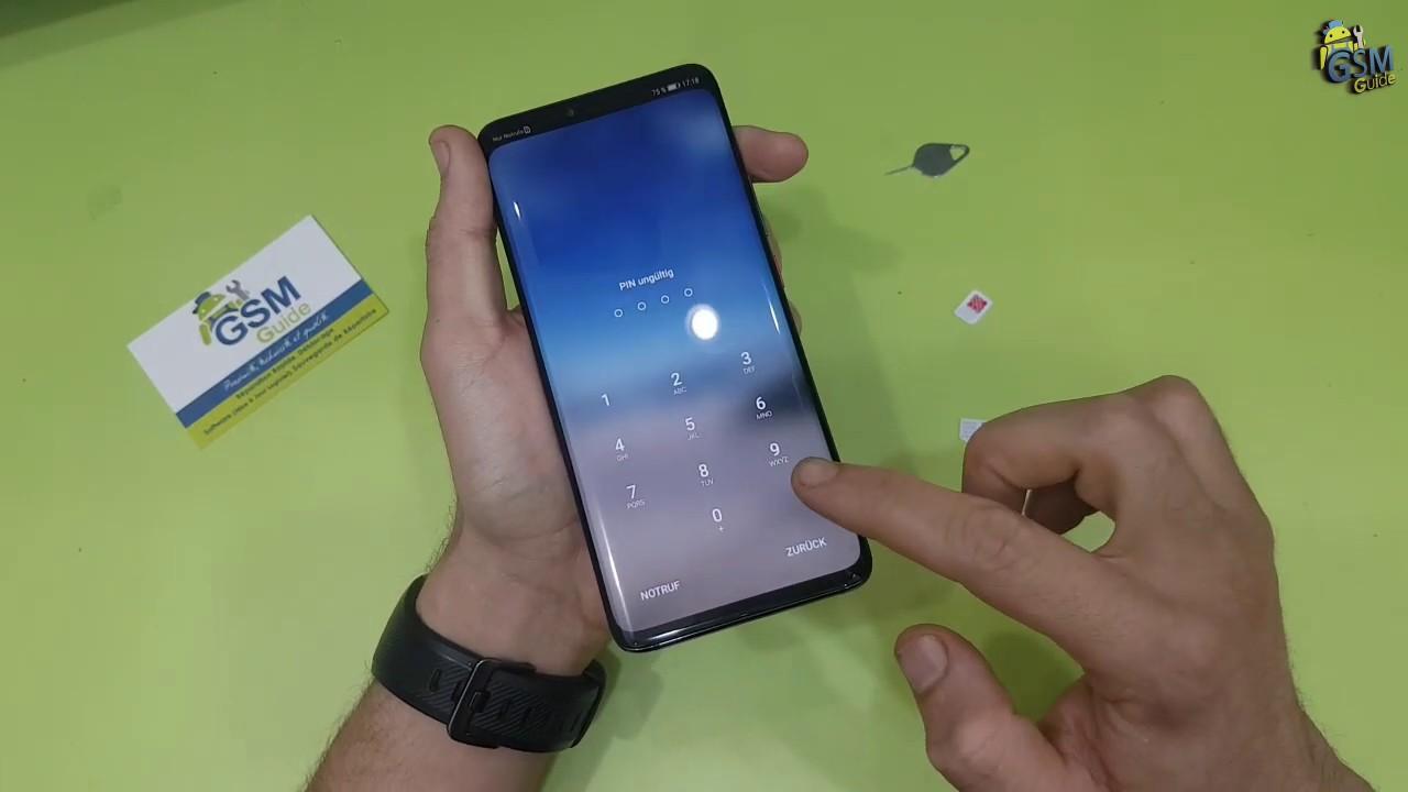 Huawei Mate 20 Pro Insert The Nano Sim Card Nano Sd Card Gsm Guide