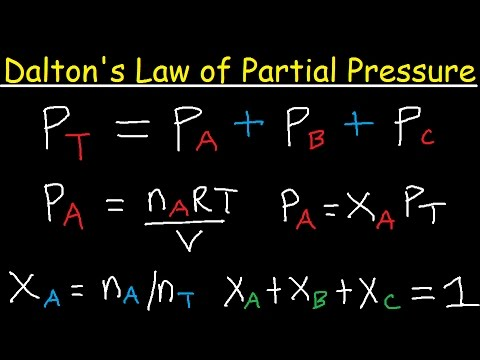 Dalton's Law of Partial Pressure Problems & Examples - Chemistry
