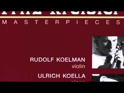 Caprice Viennois Kreisler - Rudolf Koelman , Ulrich Koella
