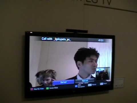 The new LG TV with Skype calls - CES 2010 Day 1 Highlights