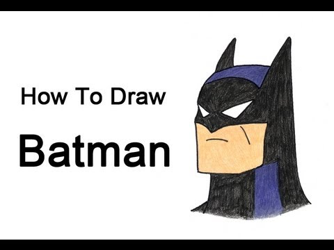How To Draw Batman From The Animated Series Youtube