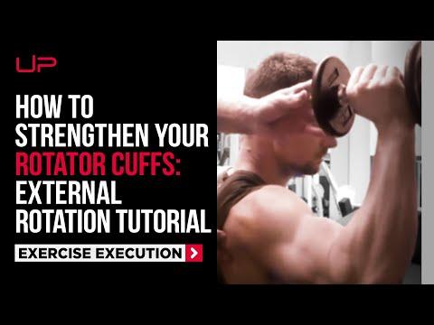 Gym Tutorial: External Rotation for Rotator Cuff