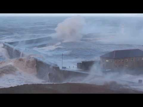 Force 11 Storm Hits Whitehaven Harbour