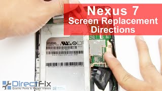 nexus 7 screen replacement disassembly directions
