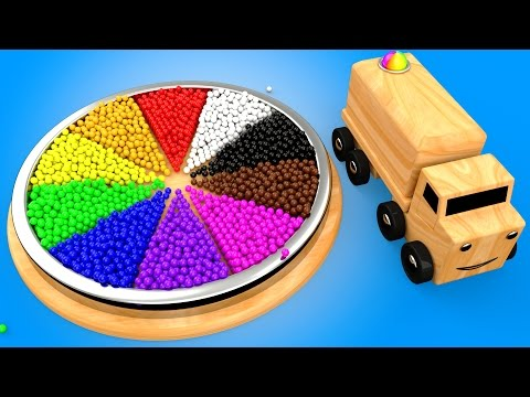 Thumbnail: Learn Colors for Children with Wooden Color Wheel Educational Toys for Kids Toddlers Wooden Truck