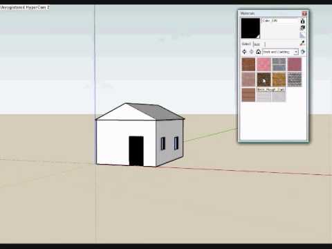 How to build a simple house in google sketchup 6 youtube for Minimalist house sketchup
