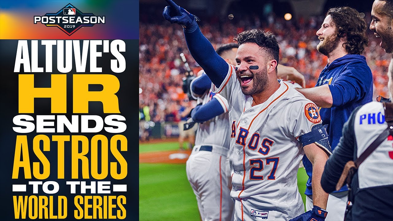 Altuve Astros >> Jose Altuve Sends Astros To World Series With 2 Run Home Run