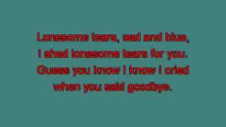 Buddy Holly Lonesome Tears tu [karaoke] [karaoke]