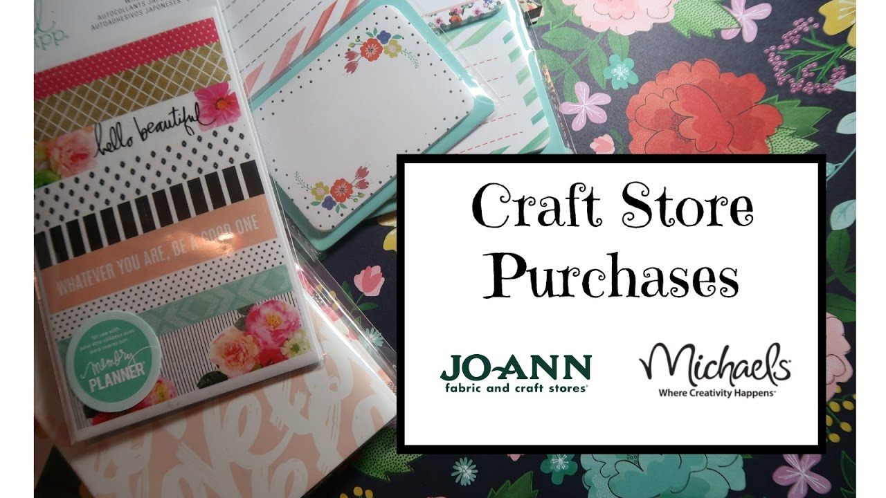 Planner Supply Items From JoAnn Michaels Craft Stores