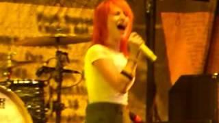 Paramore Where The Lines Overlap New Song Live @ Savemart Center Fresno 051909