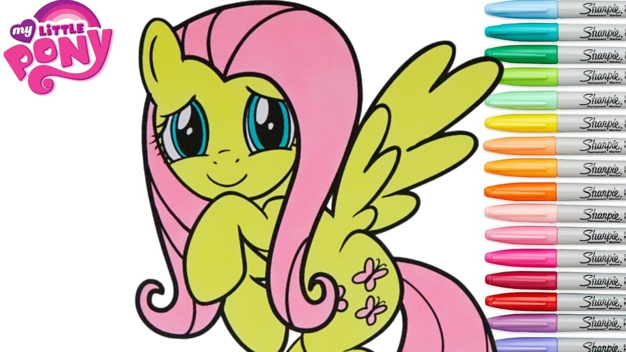 my little pony coloring book fluttershy mane 6 rainbow splash