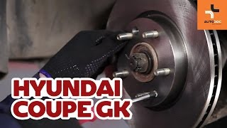 How to replace Brake Drum HYUNDAI COUPE (GK) Tutorial