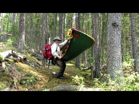 Portaging Canoe and Packs