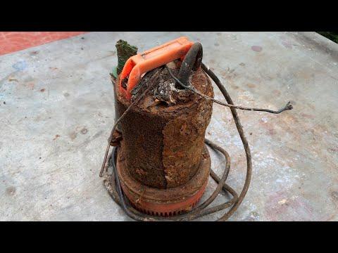 restoration super rusty old 12volt water pump |restore construction tools