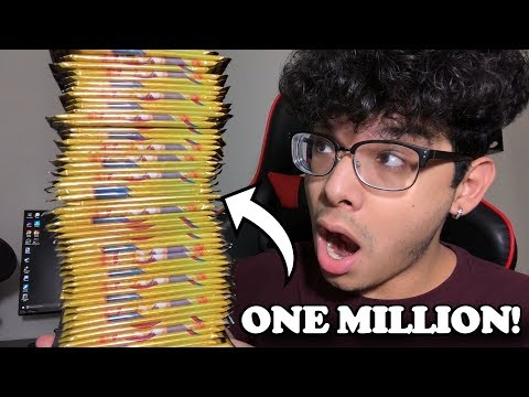OPENING ONE MILLION POKEMON CARD PACKS OF DRAGON MAJESTY! *crazy pulls*