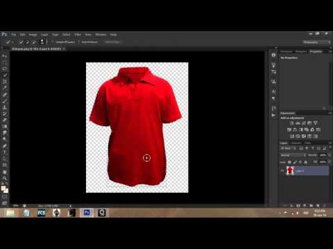 Tutorial Photoshop CS6 Mengubah Warna Template Baju Polo