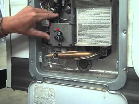 Travel Trailer PDI Propane, Hot Water Heater - YouTube