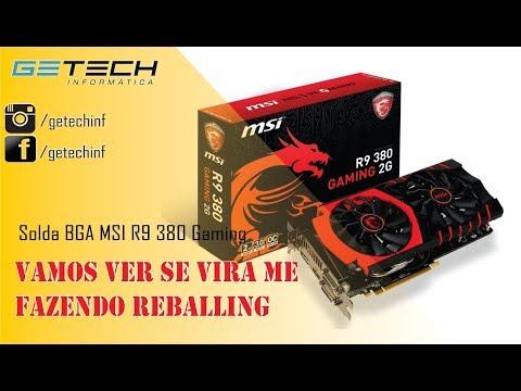 Reballing MSI R9 380 Gamming