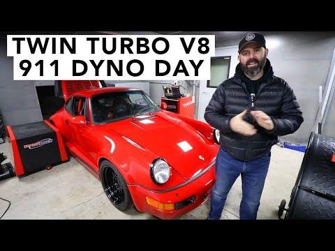 Dyno Day Drama - Porsche 911 V8 TT Swap - 동영상