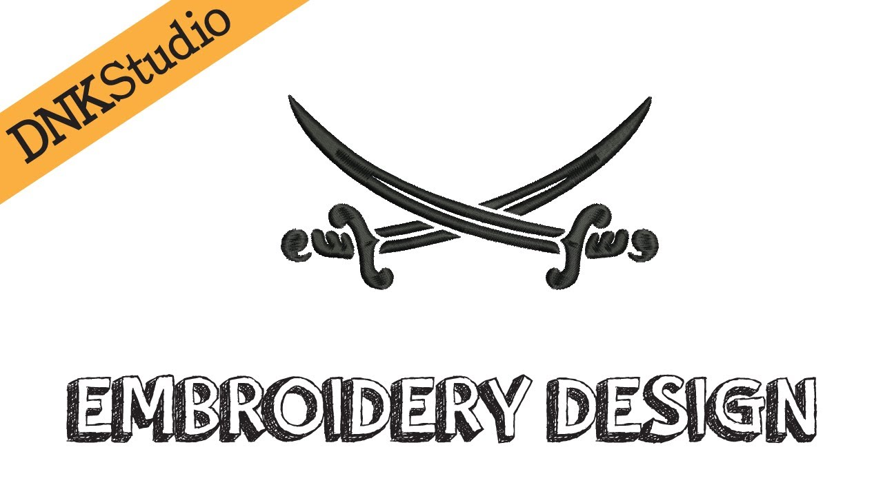 pirate swords embroidery design youtube
