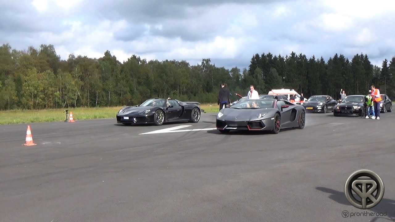 porsche 918 spyder vs lamborghini aventador pirelli edition youtube. Black Bedroom Furniture Sets. Home Design Ideas