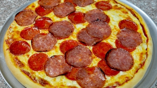 Repeat youtube video Pizza con salami y pepperoni