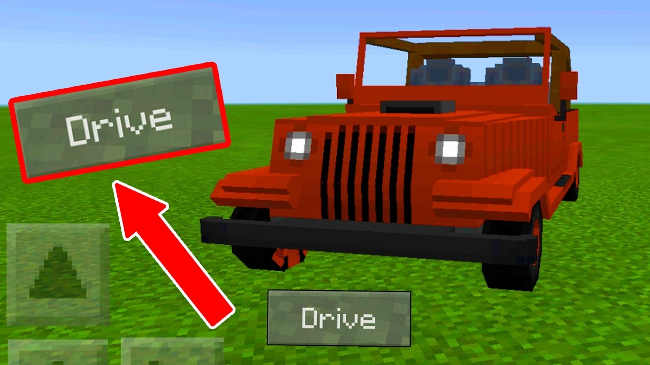 Minecraft Pe Cars And Drives Mod